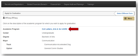 Apply to Graduate Online Step 4